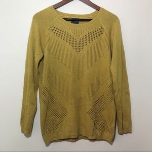 Market & Spruce Angora Cashmere Yellow Sweater